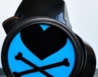 Cyber Mask Cyber Goth Respirator Black  Gas Mask  BIOHAZARD Pirate Heart