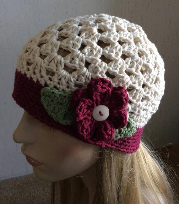 Crochet Granny Square Beanie Pattern : Flower Beanie Crochet Hat. Granny Square style Beanie. Fun