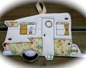 Camping Potholder, Camper potholder, Shasta Camper made to order