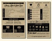 Infographic Wedding Program - Panel Wedding Program #00001-PRGA9