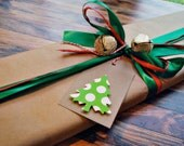 Christmas tags Christmas tree gift tags Polka dot tree christmas tags