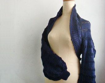 Long Sleeve Shrug Bolero, Hand knit Wrap