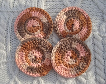 Face Scrubbies Pink Camo Facial Cleansing Discs Cotton Cleansing Pads Set of Four