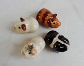 Terrarium Guinea Pig Cavy Handmade Figurine-set of 4