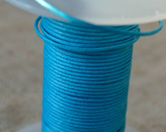1mm Cotton Cord Turquoise Waxed 25 Meter  Many Colors