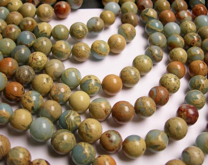 Impression Jasper -  10mm round beads -1 full strand - 40 beads - A quality -RFG246