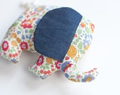 Baby Gift ~ Baby Toy ~ Liberty of London ~ Baby Shower Gift ~ Small Elephant ~ Nursery Decoration ~ Cushion