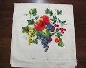 Vintage Fruit Table Runner Fabric Yardage 5.5 Yards New Old Stock
