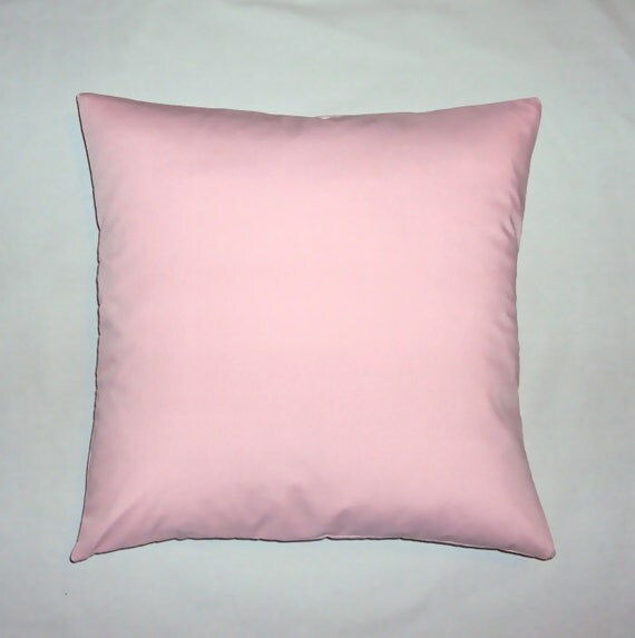 Solid Light Pink Cotton Decorative Pillow Cover 16 18 and 20