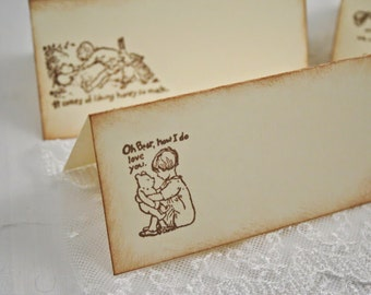 Classic Pooh Place Cards / Placecards Food Buffet Baby Shower Birthday Set of 10