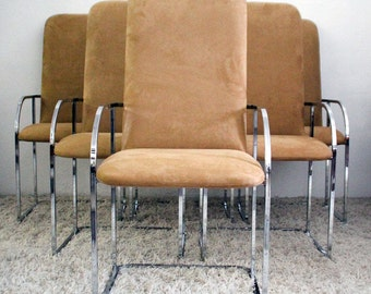 Milo Baughman for DIA Chrome Dining Chairs MINT 4 Available Price Per Chair