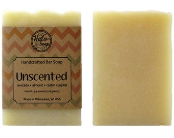 Unscented Bar Soap - Vegan - 100% Natural