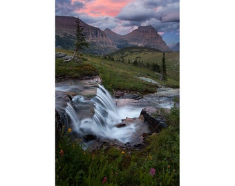 Glacier National Park, Fine Art, Landscape Photography, Print, Summer, Sunset, Logan Pass, Alpine, Montana, Nature, Cabin, Gift, Hiking