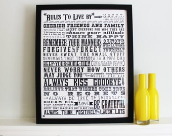 Rules To Live By Giclee Print