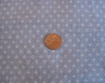 Dollhouse fabric blue dot fat quarter miniature 1:12 scale