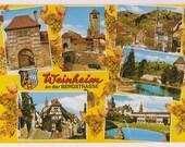 Germany Postcard - Weinheim an der Bergstrasse - Weinheim Vintage Postcard Souvenir for Tourists - German Travel Souvenir