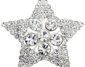 Crystal Star Wedding Pin 1004102
