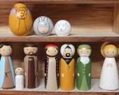 Deluxe 10 pc Nativity Peg Set