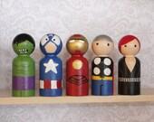Avengers Small Peg Set
