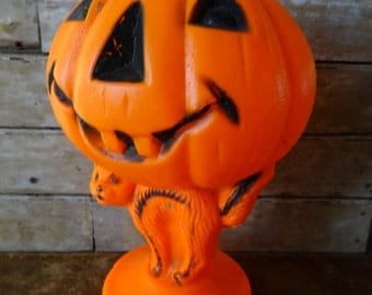 Vintage Halloween Empire Pumpkin Blow Mold