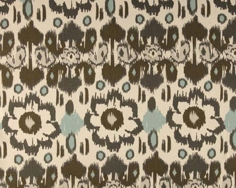 SALE Ikat Fabric by Premier Prints Twill Rio in Blue / Gray - 1 Yard