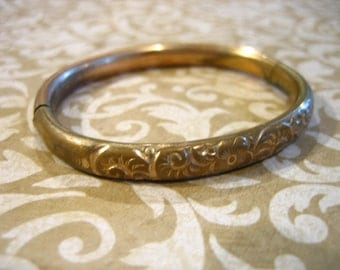 Antique Victorian Gold Filled Bangle BRACELET A.C Co.