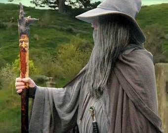 Holiday Special Gandalf the Grey Wizard, LOTR, The Hobbit, Reenactment LARP Costume Made to Order