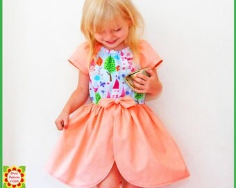 Princess Peasant Romper Pattern for Girls + Free Mother-Daughter Apron Pattern Children's Sewing Patterns, Toddler Girl pattern Baby Pattern