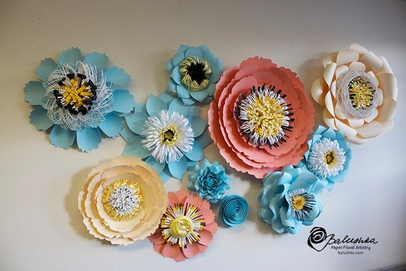 Items similar to paper floral collage handmade paper for Handmade things for decoration
