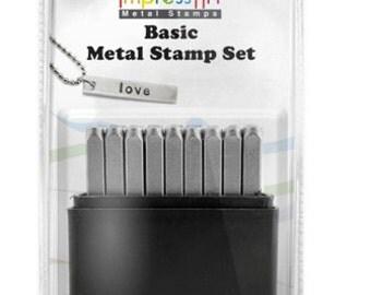 "Metal Stamp Set-Metal Stamping Kit by Impressart in 2.5mm Lowercase ""Basic Font"" Impressart -by Metal Supply Chick"