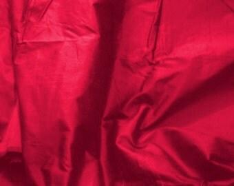 silk fabric - 100% pure - raspberry - fat quarter - sld169