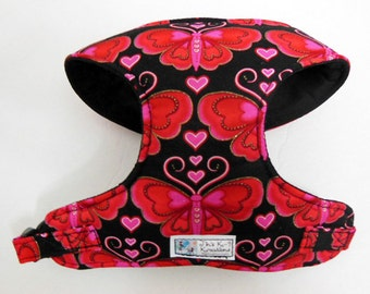 Valentine Butterfly  Comfort Soft Dog Harness - Made to Order -