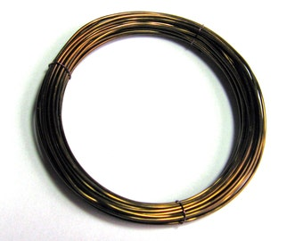 WIRE  24 gauge 10ft. non tarnish round brilliant Antique Bronze Inspire Wire