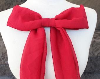 Cute chiffon bow applique