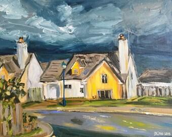 "Aviemore Street 11""x14"" original painting acrylics on canvas"