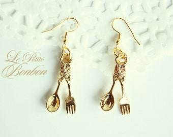 Royal fork and spoon earrings