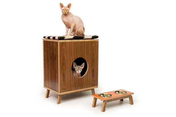 """Mid Century Modern Cat Litter Box Furniture 