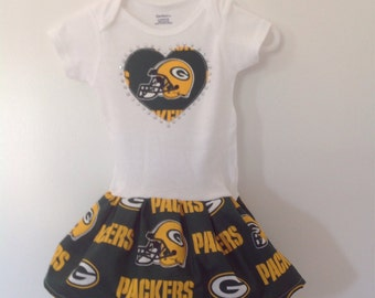 Green Bay Packers Inspired Infant Dress