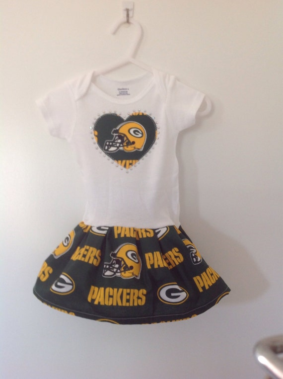 Green bay packers inspired infant dress for Green bay packers wedding dress
