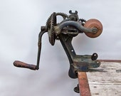 """Antique Rockford Hand-Crank Bench Grinding Stone """"A Thing of Industrial Age Beauty"""""""