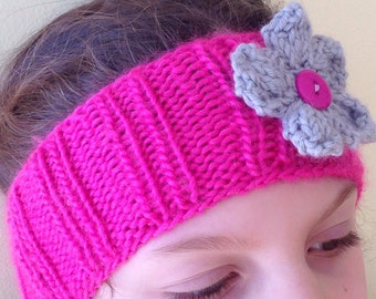 Knitted Headband and Earwarmer