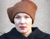 Felt hat ore mood women felted winter artiste cozy warm autumn winter Regina Doseth handmade in EU wool different elegant hat