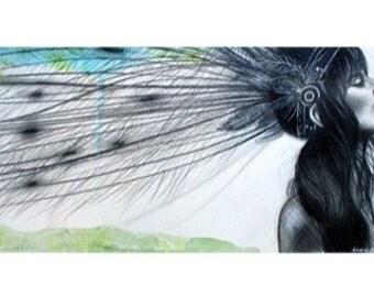 "11x14 Giclee print - ""Cherokee Wind"""