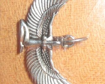 Wholesale Lot Of 4 Silver Tone Egypt Egyptian Goddess Isis Pendants