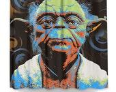 Home Decor Mastr Yoda pop art shower curtain