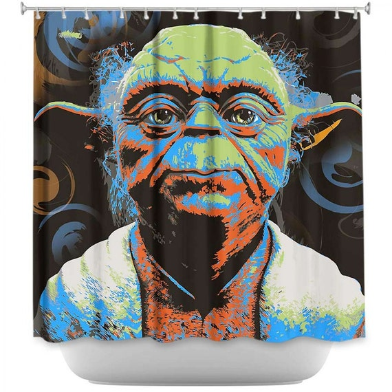 Art home decor mastr yoda pop art shower curtain by tyart2479 on etsy