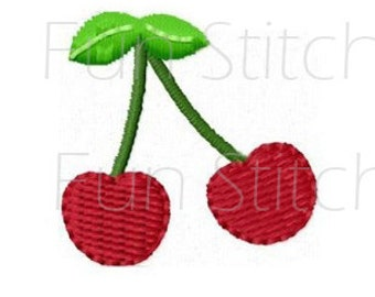 mini cherry machine embroidery design