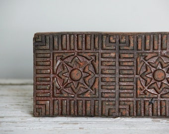 antique decorative salt glaze brick / boho decor