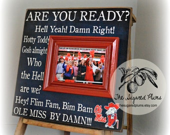 Ole Miss, University of Mississippi, Mississippi Rebels, College Football Fight Song, Wall Art, 16x16 Personalized Picture Frame