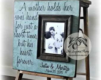 Mother of the Groom Gift, Mother of the Bride Gift, Father of the Bride Gift, A Mother Holds Her Sons Hand, 16x16 The Sugared Plums Frames